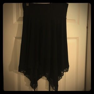 Black, Versatile, Bebe Skirt w/ Asymmetrical Hem!